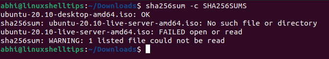 Compare Checksum of File with SHA256SUMS