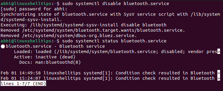 Disable Bluetooth on Ubuntu Startup