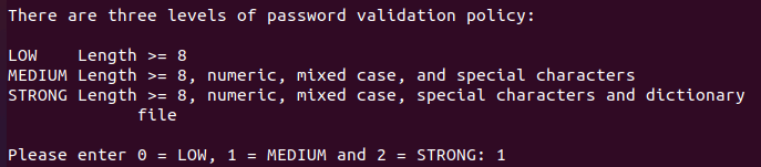 Choose MySQL Password Strength