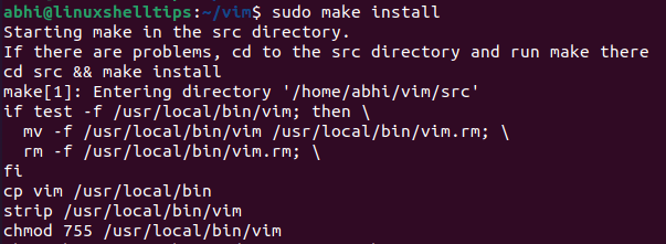 Install Vim from Source Code