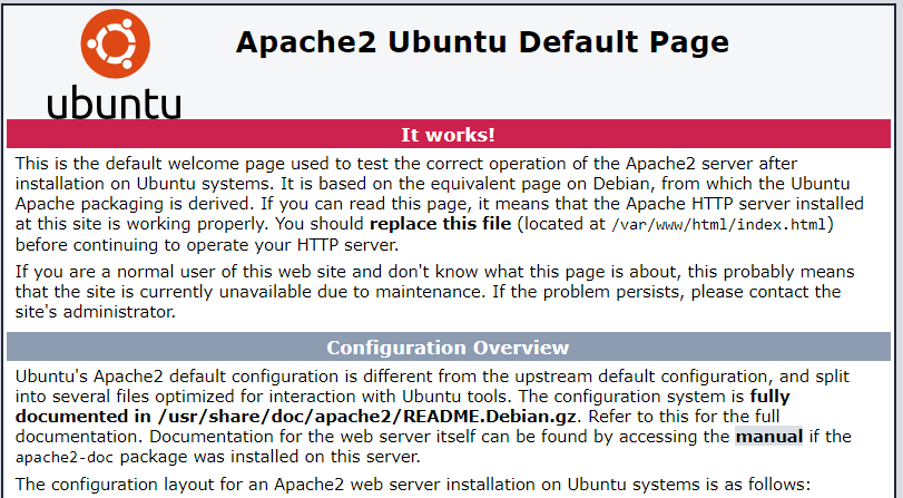 Check Apache Web Page on Ubuntu