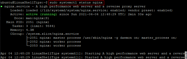 Check NGINX Status on Ubuntu