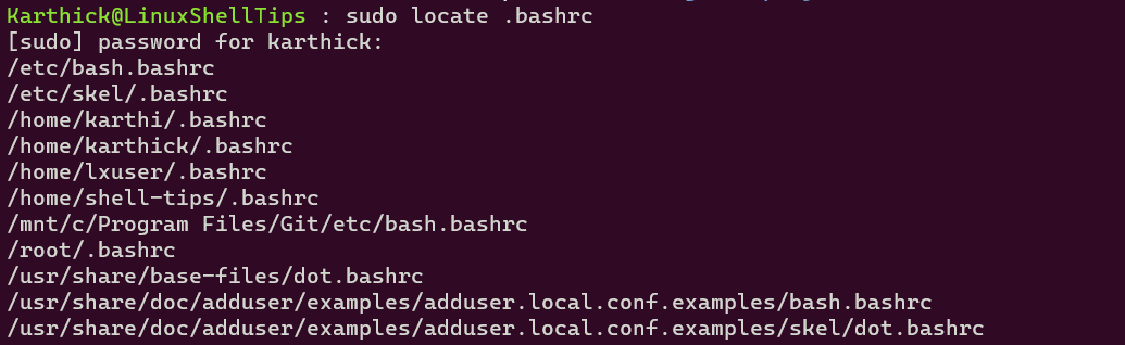 Locate Files in Linux