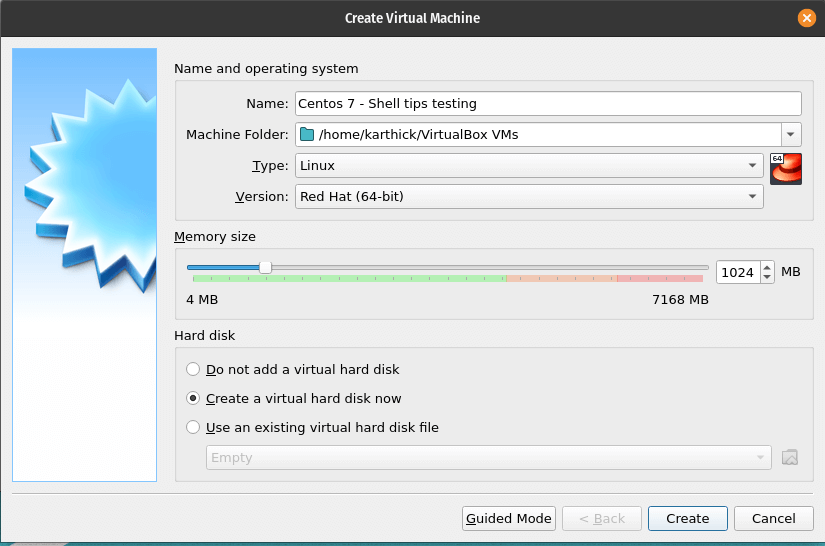 Virtual Machine Hardware Settings