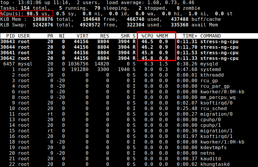 Check Linux CPU Load