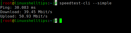 Check Linux Internet Speed