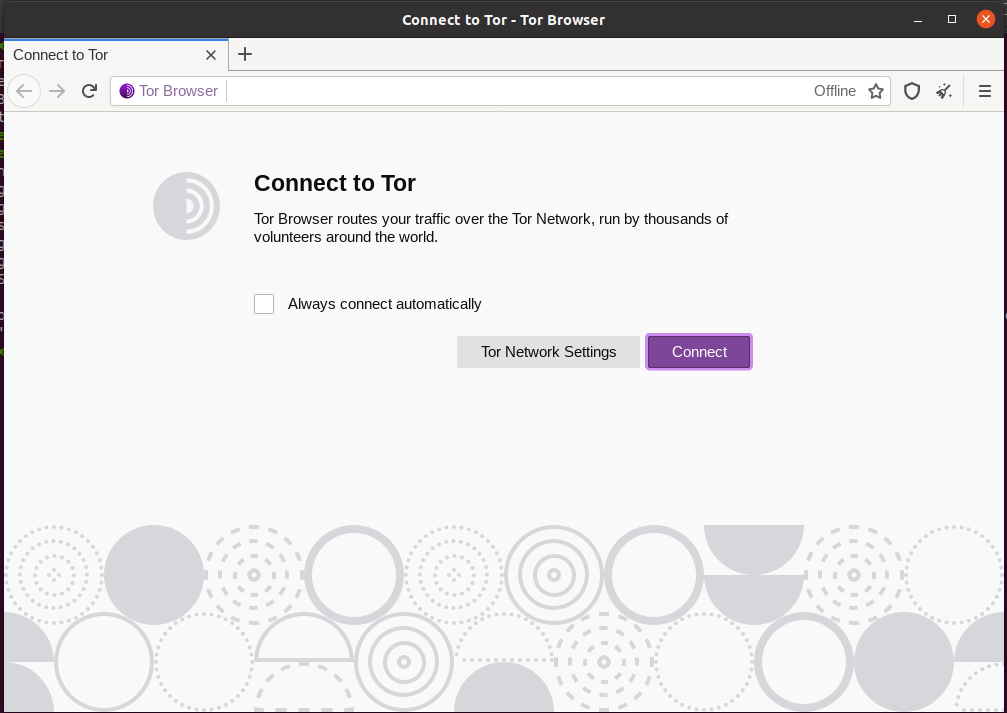 Connect Tor Browser in Linux