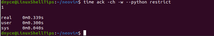 Faster Searches Using Ack Command