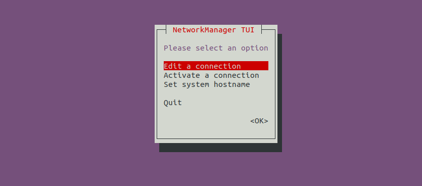 Nmtui Network Manager