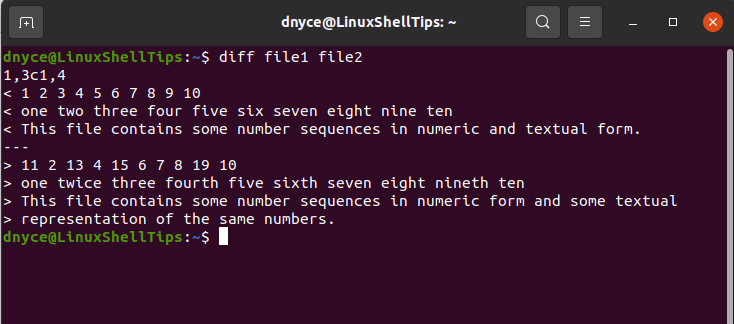 Compare Two Files in Linux