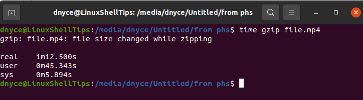 Compress File with Gzip