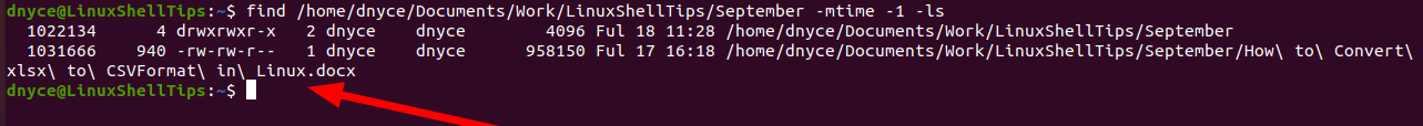 Find Modified Files in Linux
