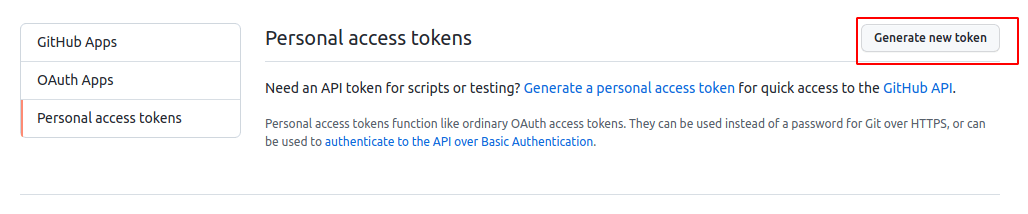 Generate GitHub Personal Access Token