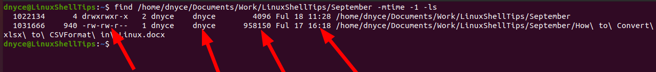 List Modified File Changes in Linux