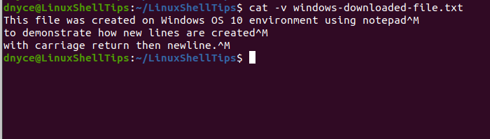 Show File Content in Linux