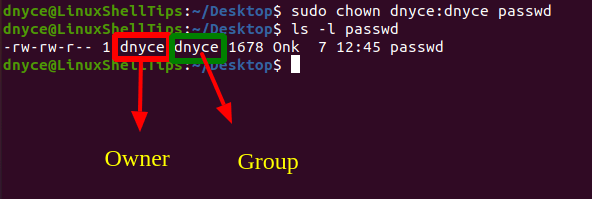 Change Linux File Owner and Group